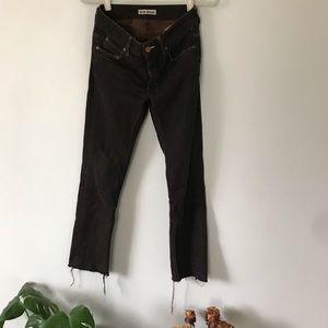 Acne Jeans Distressed Brown Size 27